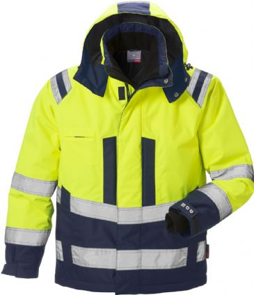 Fristads High Vis Airtech Winter Jacket CL 3 4035 GTT (Hi Vis Yellow/Navy)